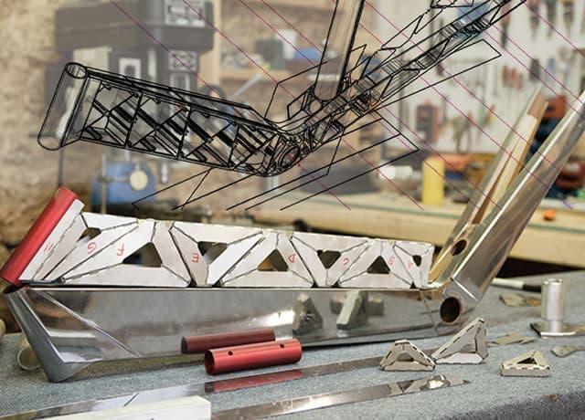 ユニボディを採用した折り紙自転車「Celaris」
