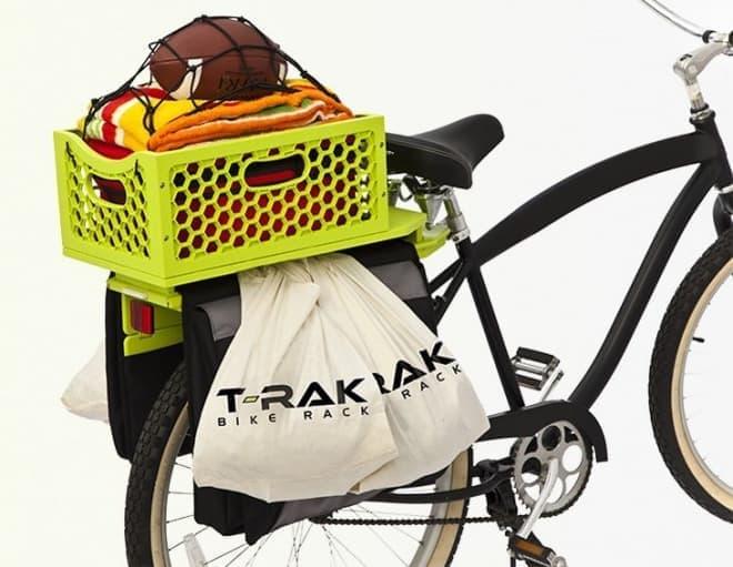 自転車用の後付けキャリア「T-RAK」