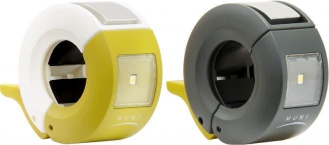 ライトとベルをひとつに―ハンドル周りをすっきりさせる「MUNIライトベル」