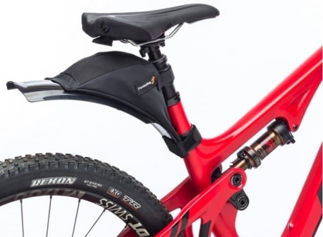 フェンダーに自転車用バッグを取り付けたら、荷物が汚れない?-「Bicycle FenderBag」