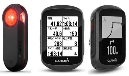 Garminの自転車用レーダーとGPSサイコン