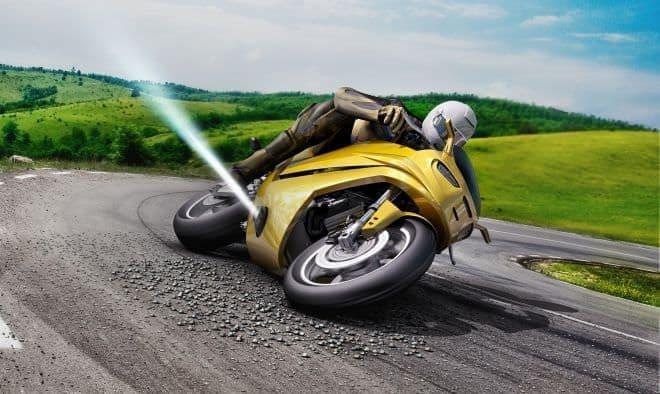ガスを噴射してローサイド転倒を防ぐBoschのバイク向けテクノロジー