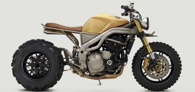 KAWASAKIのバイクをベースにしたカスタムバイク「FRANK」