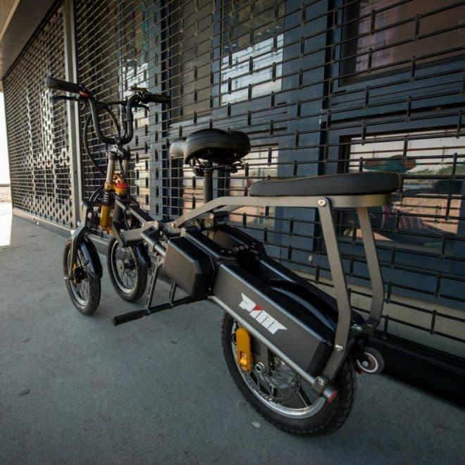 1秒で折り畳める電動バイク「Mylo」