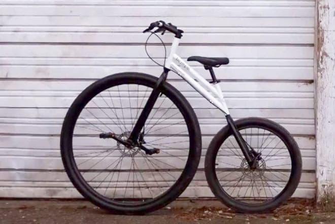 前輪を直接漕ぐ自転車、bicymple.の「nuvo.」