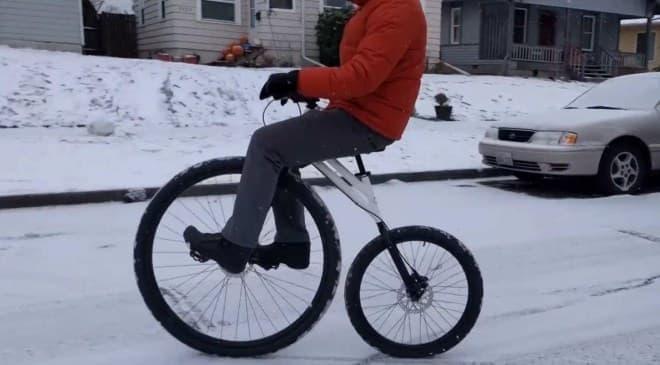 前輪を直接漕ぐ自転車、bicymple.の「nuvo.」-ペニーファージング気分を楽しんで