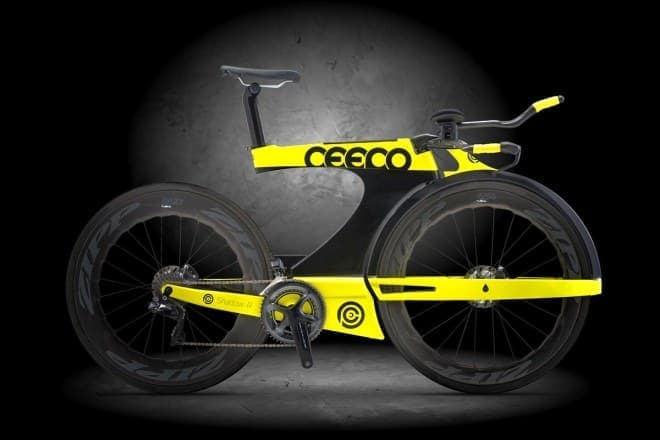 フォークが水平!-CEEPO Triathlon Bikeの「SHADOW-R」