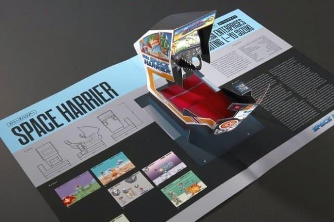 セガの体感ゲームの歴史をペーパークラフトでたどる「SEGA Arcade: Pop-Up History」