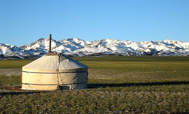 """モンゴル遊牧民の住居""""ゲル"""""""