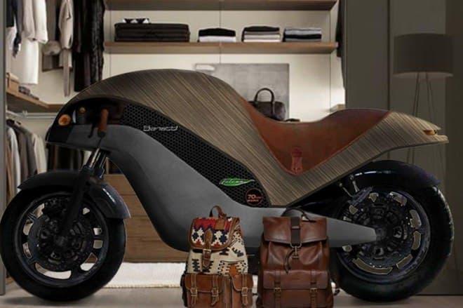 竹製バイク「Green Falcon」