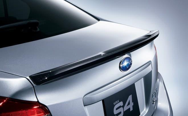 SUBARU「WRX S4 STI Sport」トランクリップスポイラー(ブラックカラード)