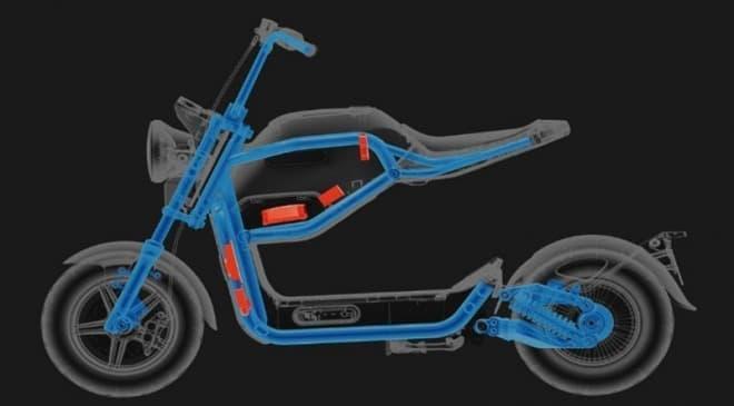 何このデザイン!-シート下に広い空間のある電動バイクSUNRA「Miku Max」
