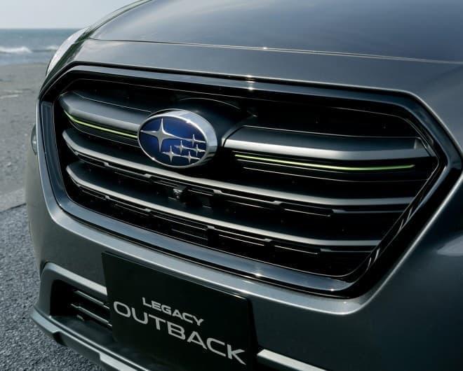 イエローグリーンがアクセントのSUBARU60周年特別記念車、レガシィ アウトバック「X-BREAK」