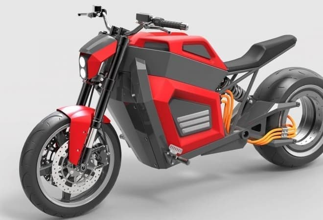 ハブレスホイールを持つ電動バイク RMK Vehicles「E2」-最新CG画像