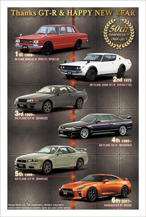 来年のお正月は、「GT-R」「フェアレディZ」で ― 50周年記念年賀状発売