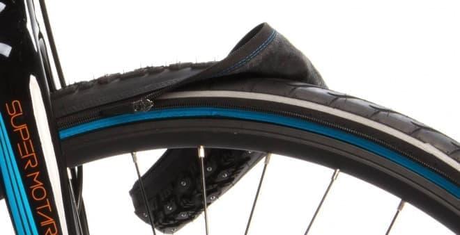 自転車用タイヤが、10秒で雪道用に! - 「reTyre(リタイヤ)」がKickstarterに登場