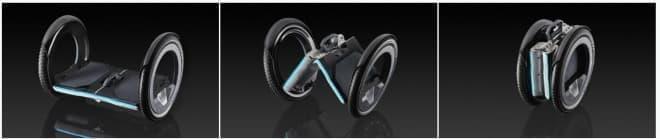 電動スクーター「UrmO」-折り畳むとアタッシュケースサイズに