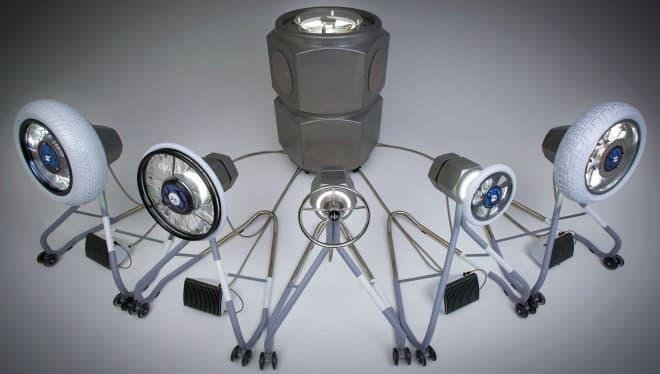 乗り物のパーツによって構成された演奏装置「&Y03 eMotion Tracks」