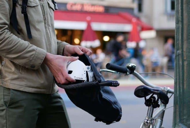 自転車ロックの機能も付いたバッグ「LOXI」
