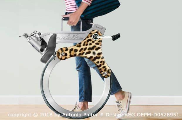 スポークがない電動アシスト自転車「Orbike」