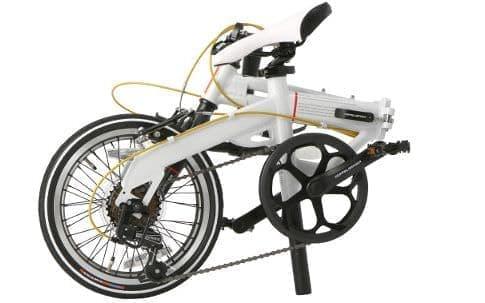 ブルホーンハンドルの折り畳み自転車「104-R-WH Light Velocity」、DOPPELGANGERから - 長距離走行できる3つの工夫