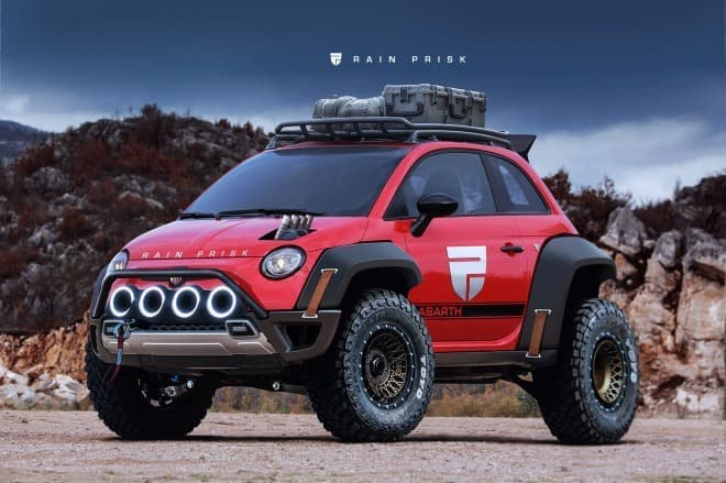 「Fiat 500(チンクエチェント)」をオフ車化した「Fiat 500 XXL」