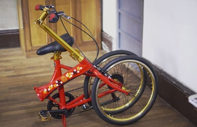 安土桃山文化の粋を組み込んだ自転車「Azuchi」