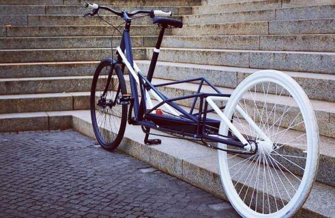 折り畳むと普通の自転車になるカーゴバイク「CONVERCYCLE BIKE」