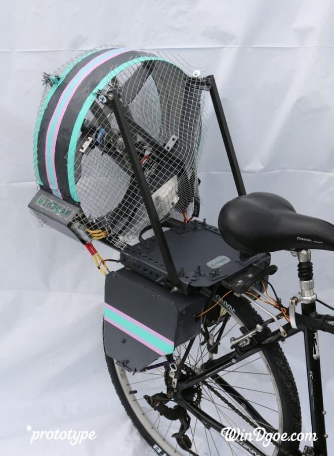風力アシスト自転車「Jet Bike」