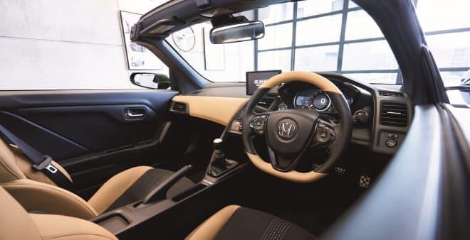 「S660」に特別仕様車「Trad Leather Edition」 ― ライトタン×ブラックレザーインテリアやブラウンロールトップを装備