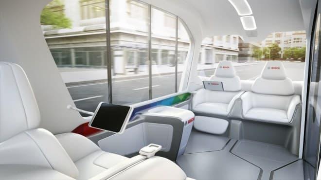完全自動運転の電動シャトルバス、ボッシュがCES 2019でコンセプト車両を発表