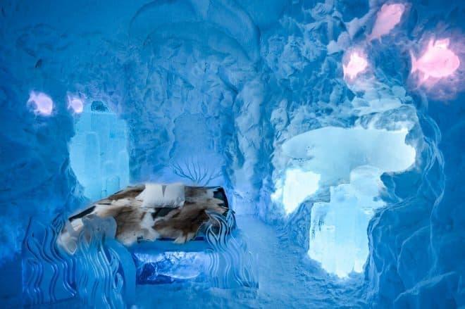 VWバスの氷像がある部屋「Spruce Woods(トウヒの森)」