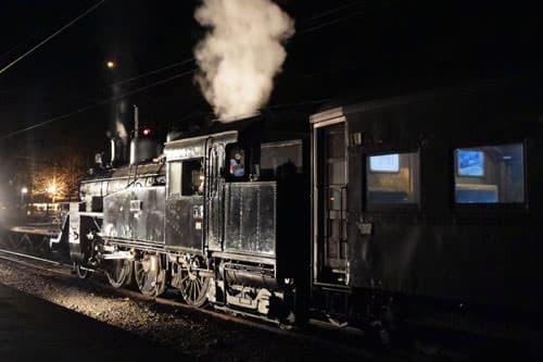 夜、SLに乗る、撮る、そして録る ― 「SLナイトトレイン」、2019年も実施