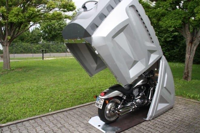 これ、格好良い!バイク用のカプセル「bikeBOX24」