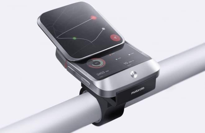 自転車ナビは、2画面が便利!-スライド携帯にインスパイアされた「Z8M Remake_smart watch」