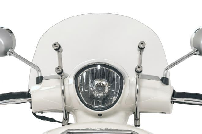 プジョー・ジャンゴシリーズ特別仕様車「ジャンゴ125エバージョンABS +」―「ショートスクリーン」「フロントキャリア」「バックレスト」