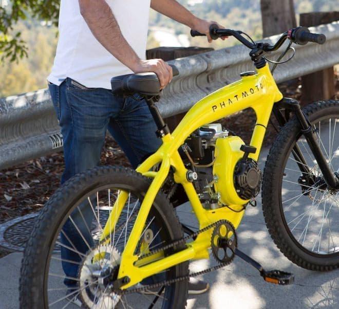 ガソリンエンジンを、人がアシストする自転車=ガソリンエンジンアシスト自転車!