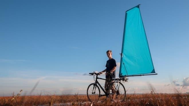 風力アシスト自転車「CycleWing」