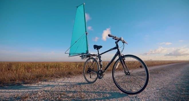 ―ヨットみたいに、自転車を走らせる