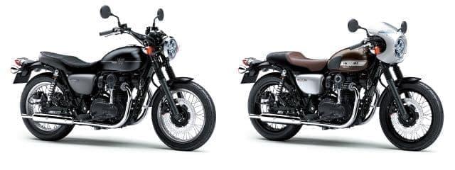 カワサキ「W800 STREET」「W800 CAFE」が3月1日に販売開始される