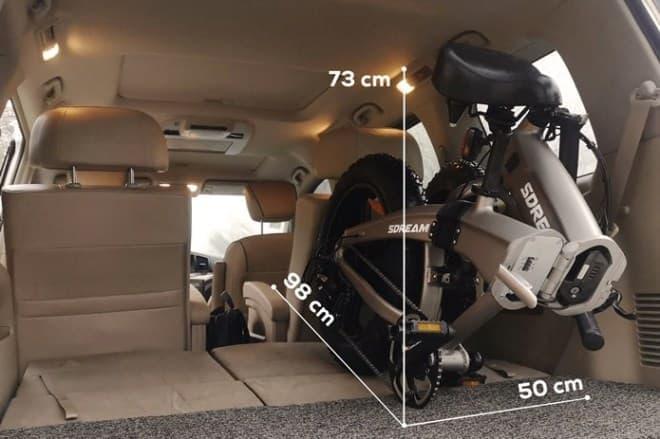 折り畳みe-MTB「SDREAM」―4インチファットタイヤで、滑りやすい場所も安全に