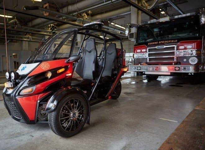 Arcimotoの電動車に緊急車両バージョンの「Rapid Responder」