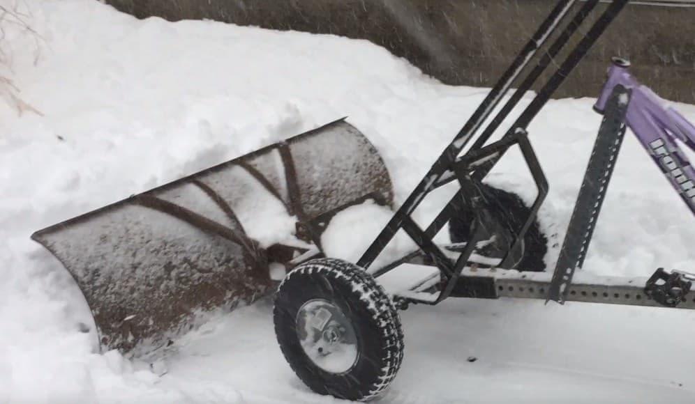 雪かき自転車は、思ったよりも除雪性能が高いようです