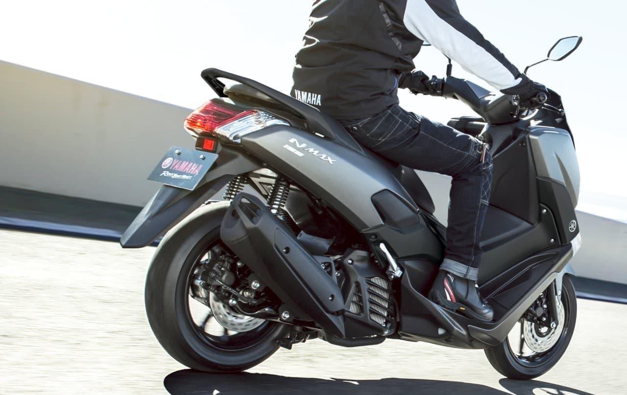 ヤマハ「NMAX155 ABS」カラーリング変更 ― マットグレーとホワイトの2色