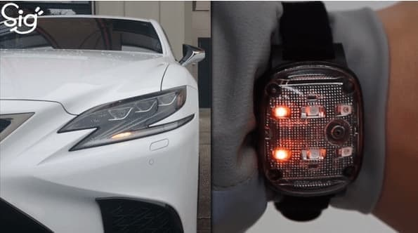 "Lexusの流れるウインカーのような「sig""」"