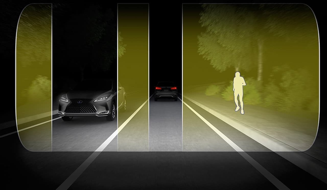 LEXUS「RX」マイチェン ― 夜間視界の確保を支援するレードスキャンAHS搭載