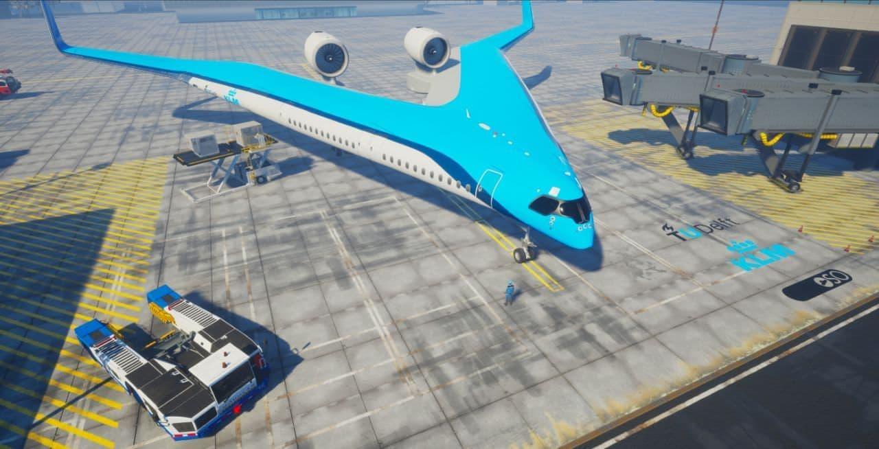 未来の航空機「フライングV」、持続可能な社会の実現に向けてKLMとTU Delftが開発中