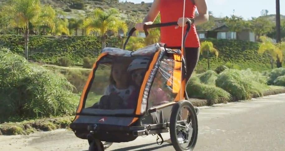 子ども2人を乗せられる自転車用トレーラー「AS-2」、Makuakeに登場