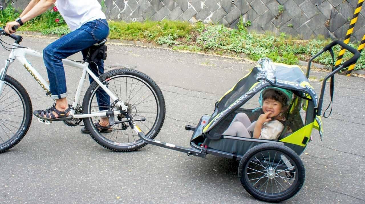 子ども2人を乗せられる自転車用トレーラー「AS-2」