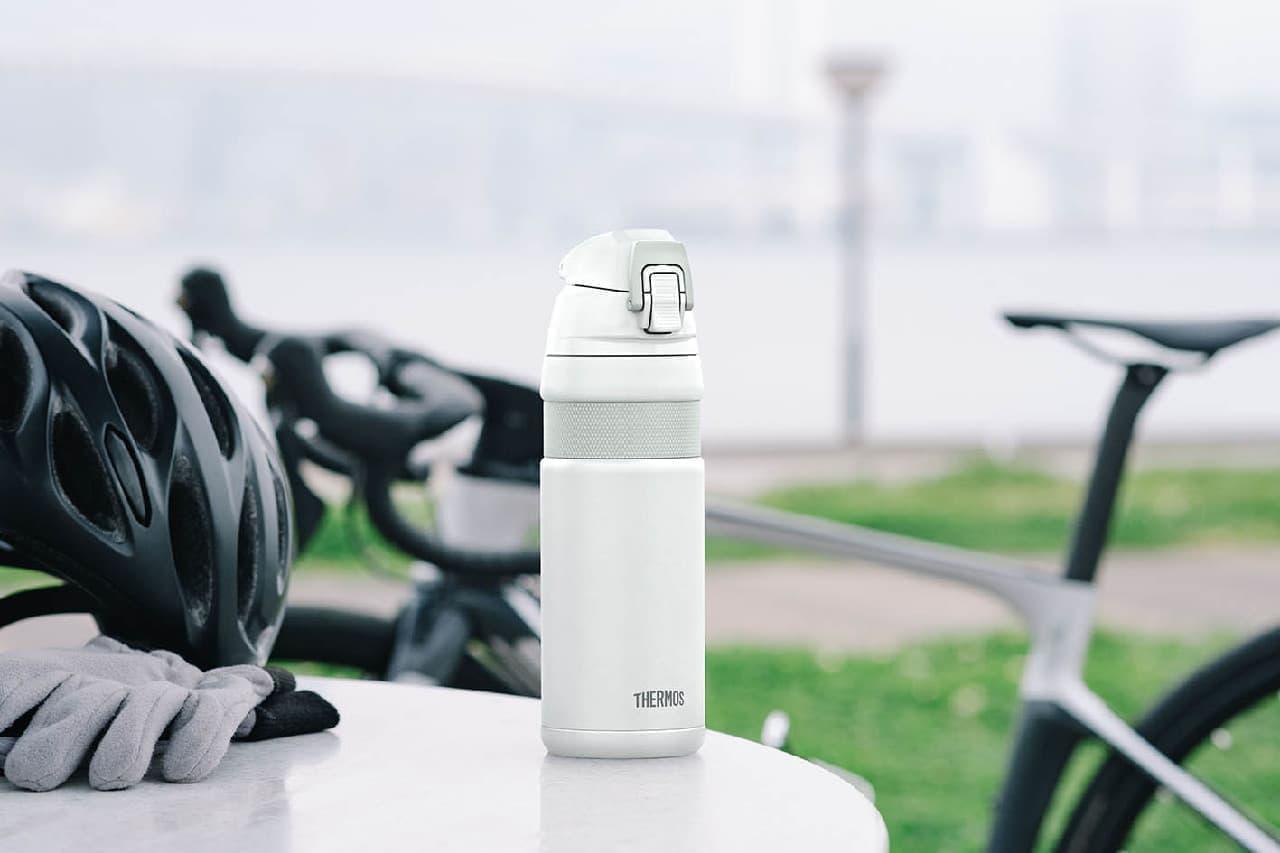 直飲みタイプの自転車専用ボトル「サーモス 真空断熱ケータイマグ」
